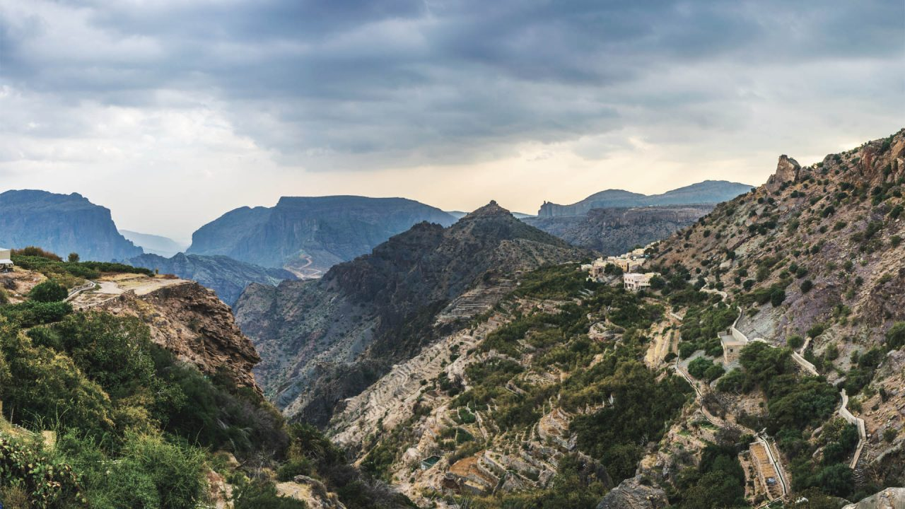 Green mountains of Jebel Akhdar