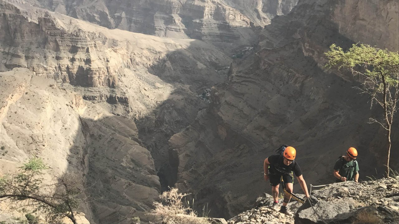 Jebel Shams Via Ferrata by twenty3 extreme